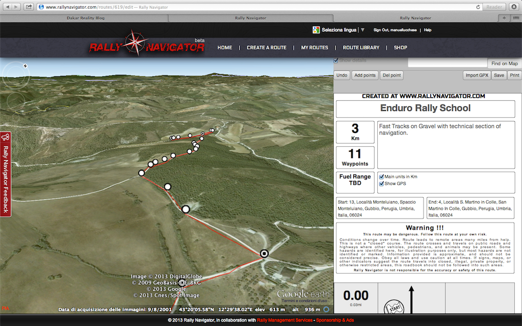 Road Book Software 6