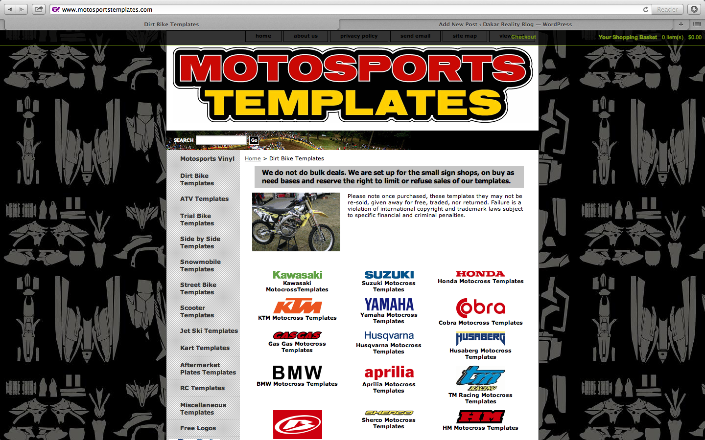 Bike Graphic Template